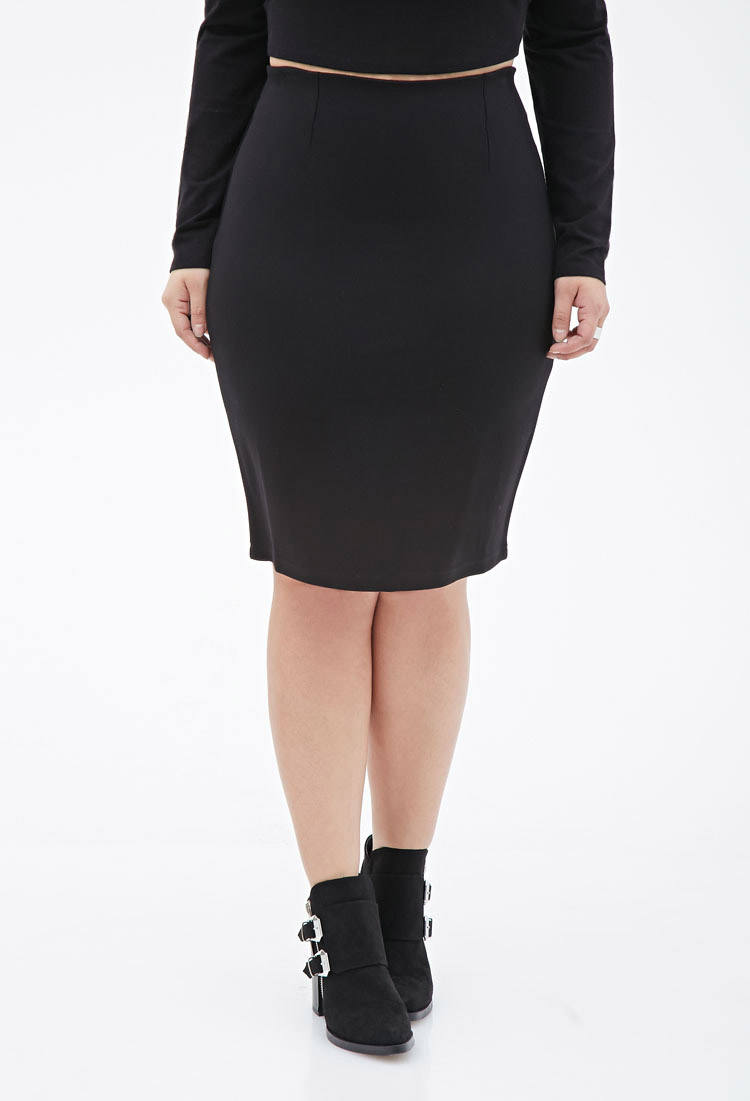 2019 year for lady- Pencil black skirt forever 21