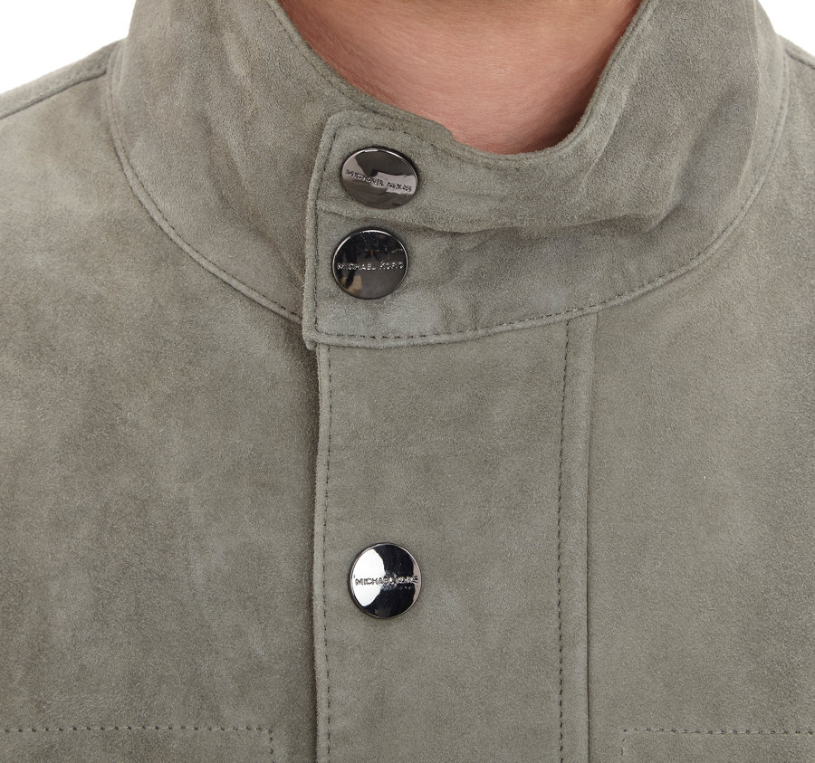 Michael kors grey leather jacket
