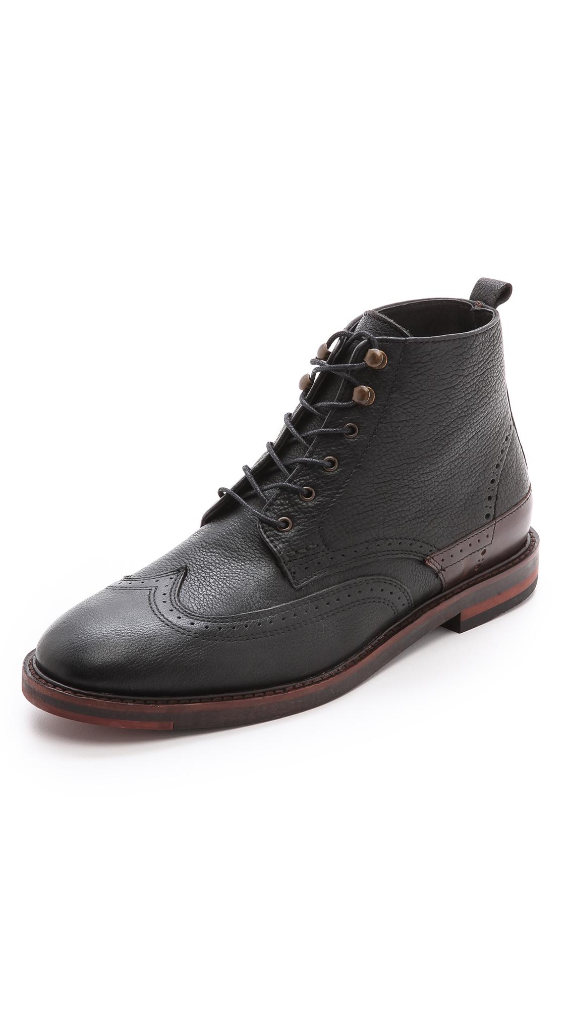 h by hudson forge boots in black for men lyst. Black Bedroom Furniture Sets. Home Design Ideas