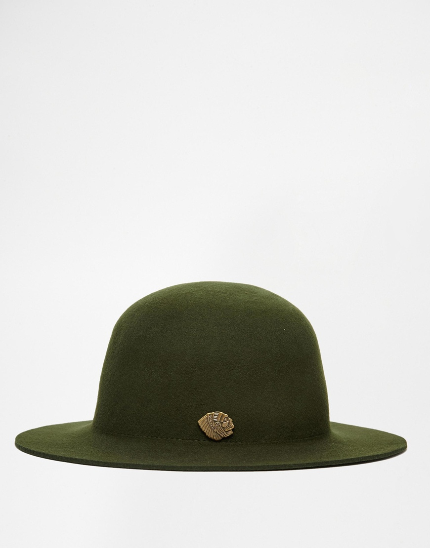 304ee085fb77aa Brixton Cason Structured Hat In Felt in Green for Men - Lyst