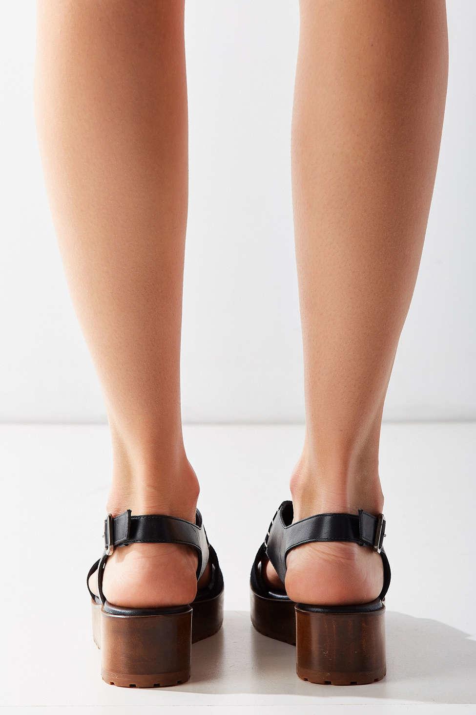 eccd95a5b8d0 Lyst - Kelsi Dagger Brooklyn Danielle Wood Slingback Sandal in Black