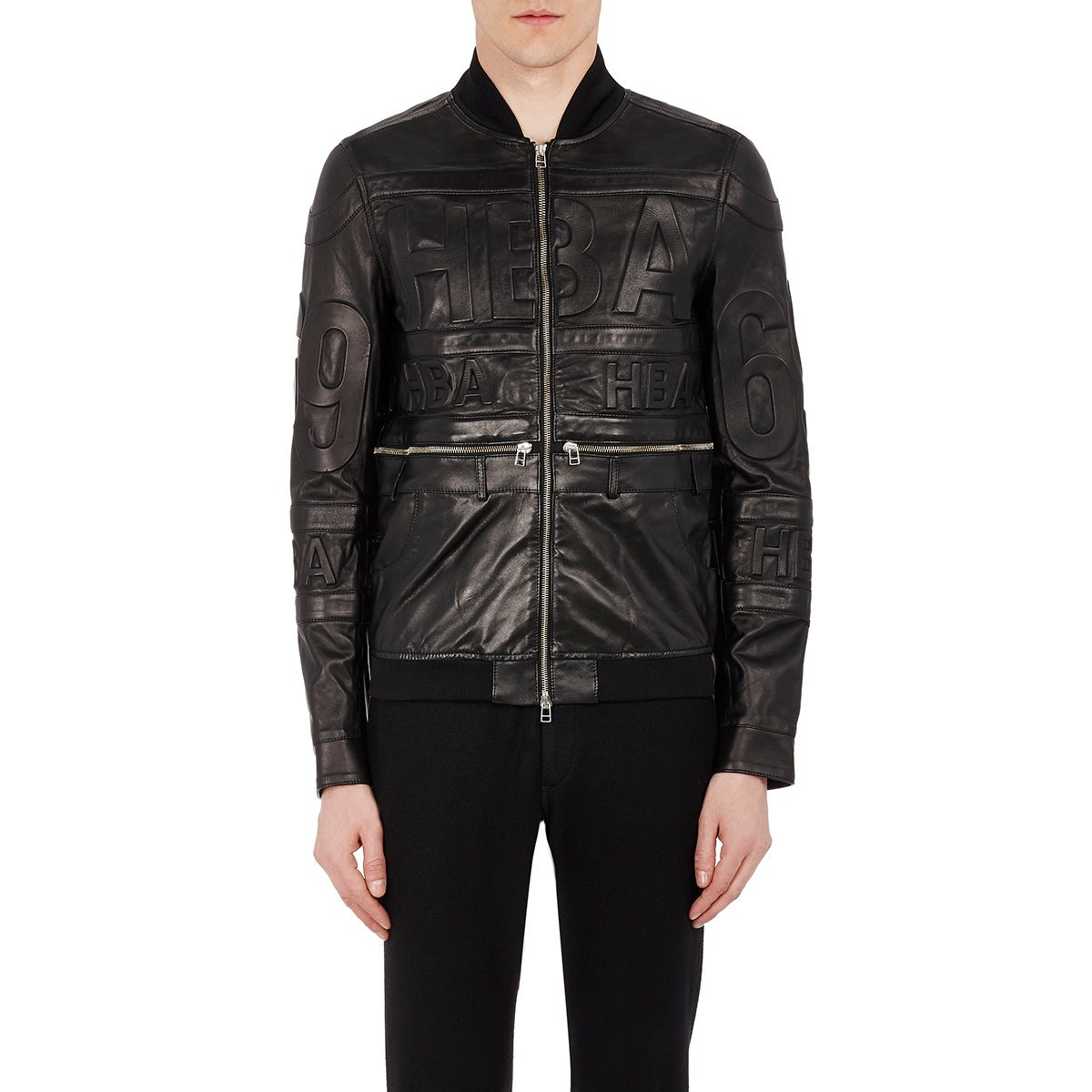 Hood by air Men's Leather Bomber Jacket in Black for Men | Lyst
