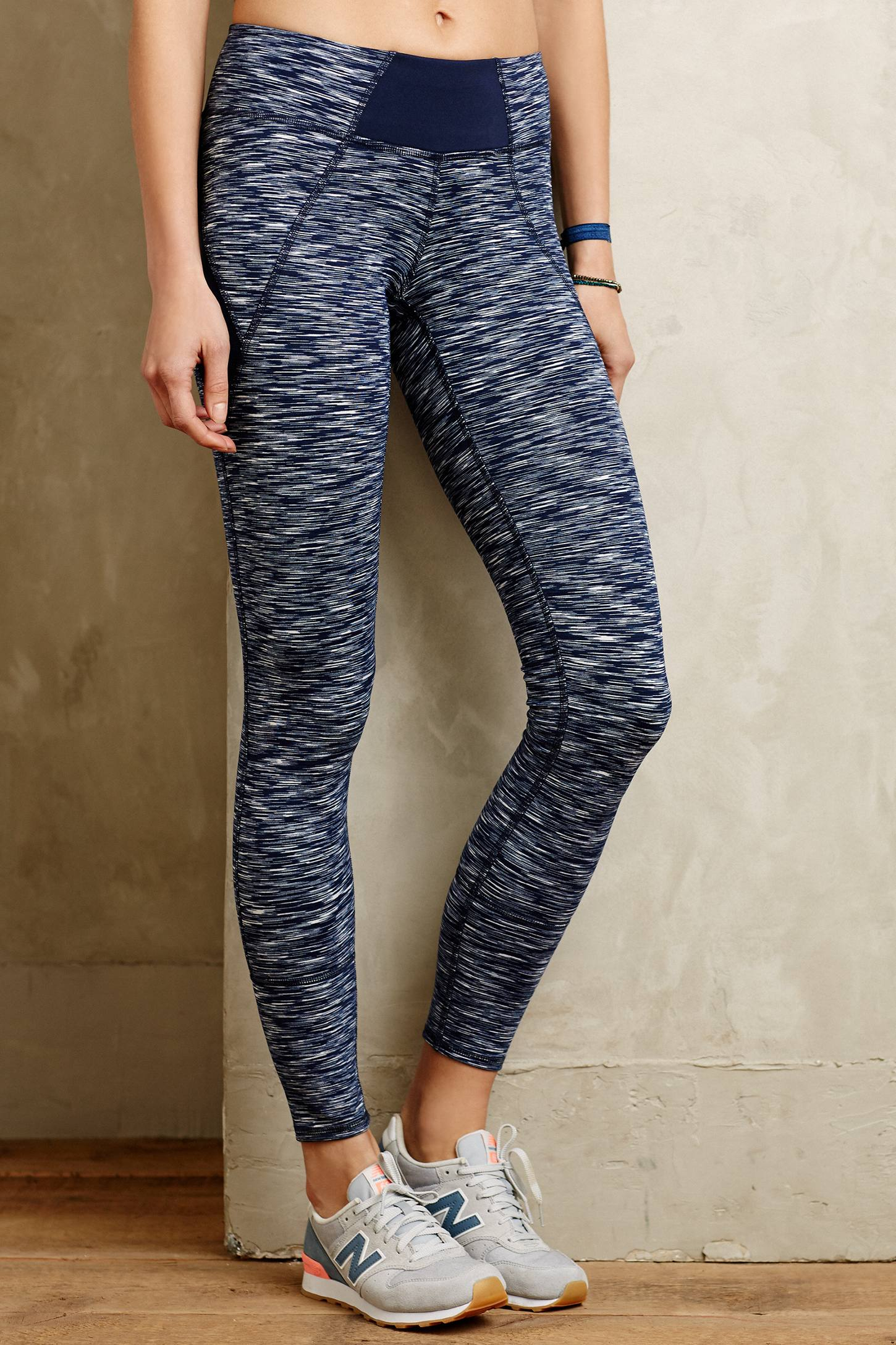 Pure good space dye leggings in blue lyst for Space pants fabric
