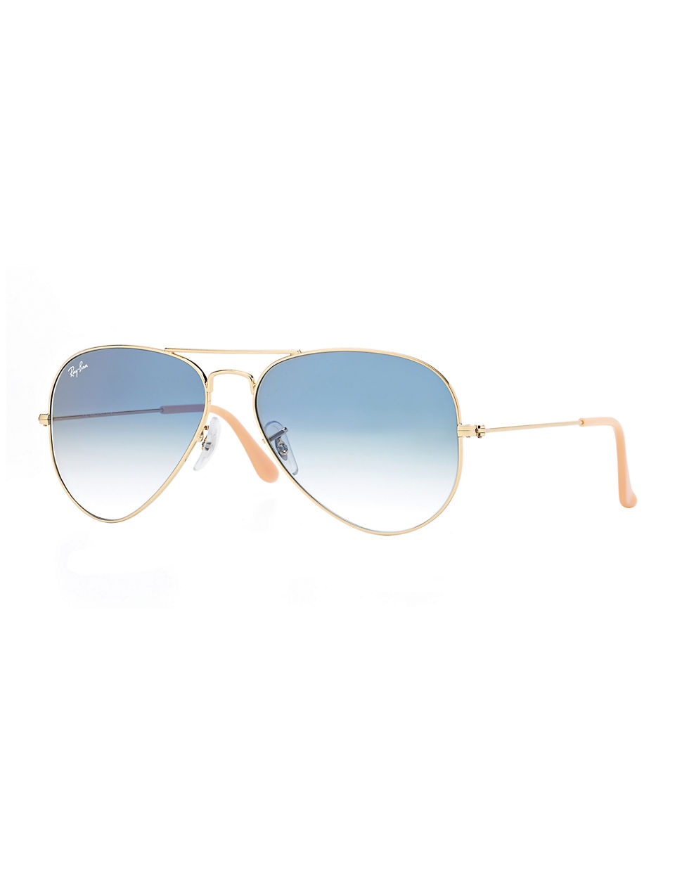 ray ban gold aviator sunglasses in blue for men lyst. Black Bedroom Furniture Sets. Home Design Ideas