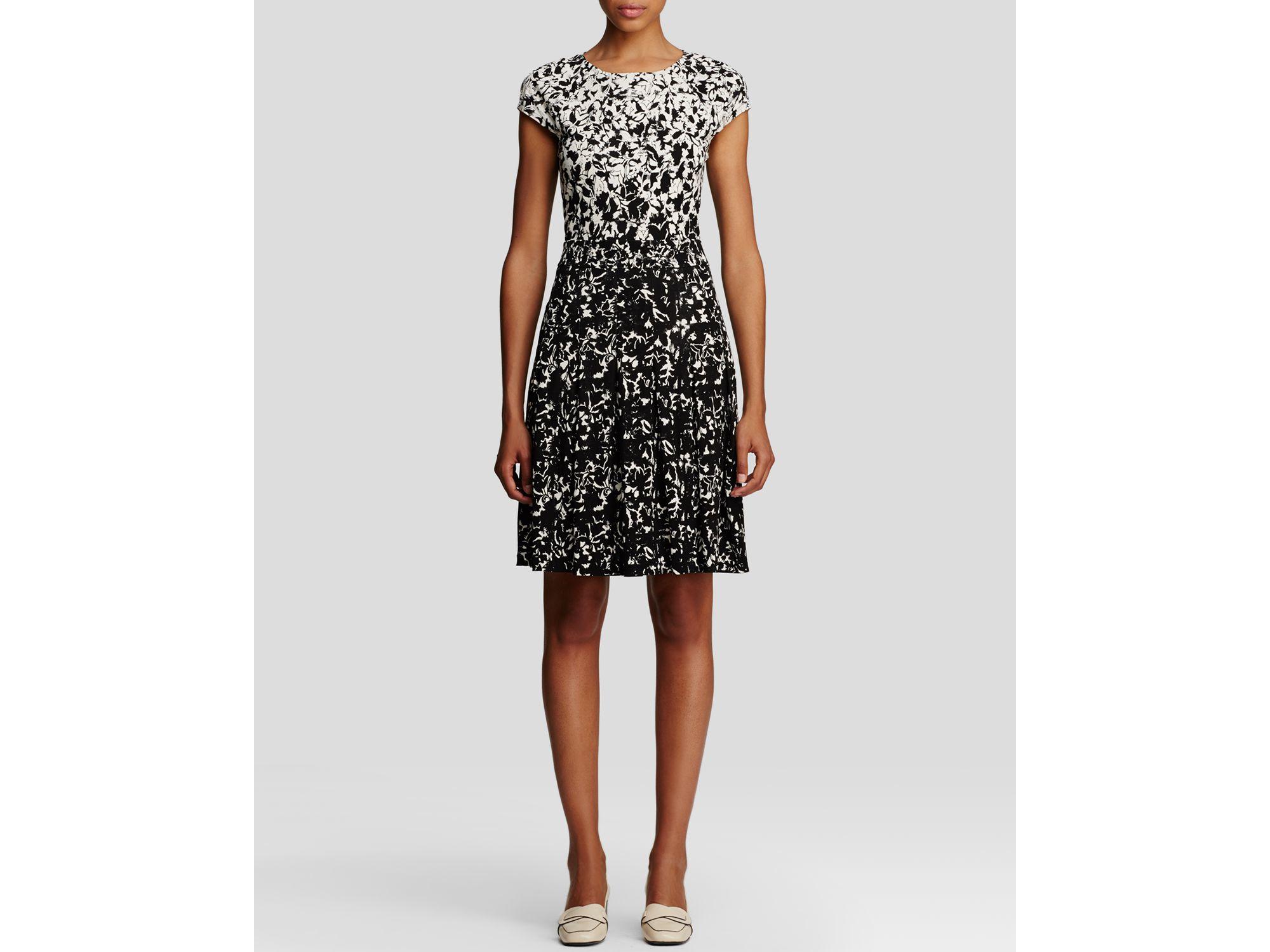 Lyst Tory Burch Sophia Color Block Floral Print Dress In