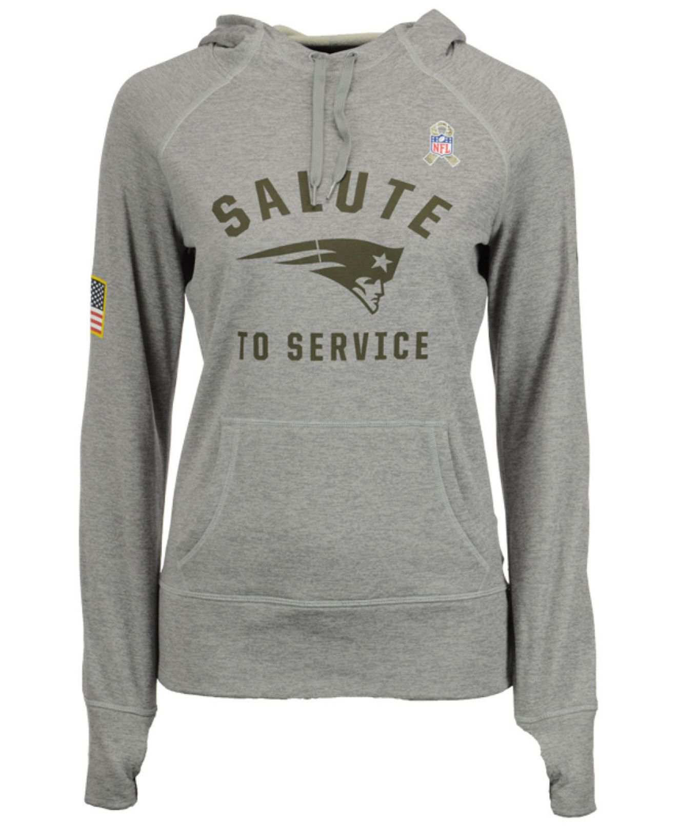 2145d0d41b230e Nike Women's New England Patriots Salute To Service Hoodie in Gray ...