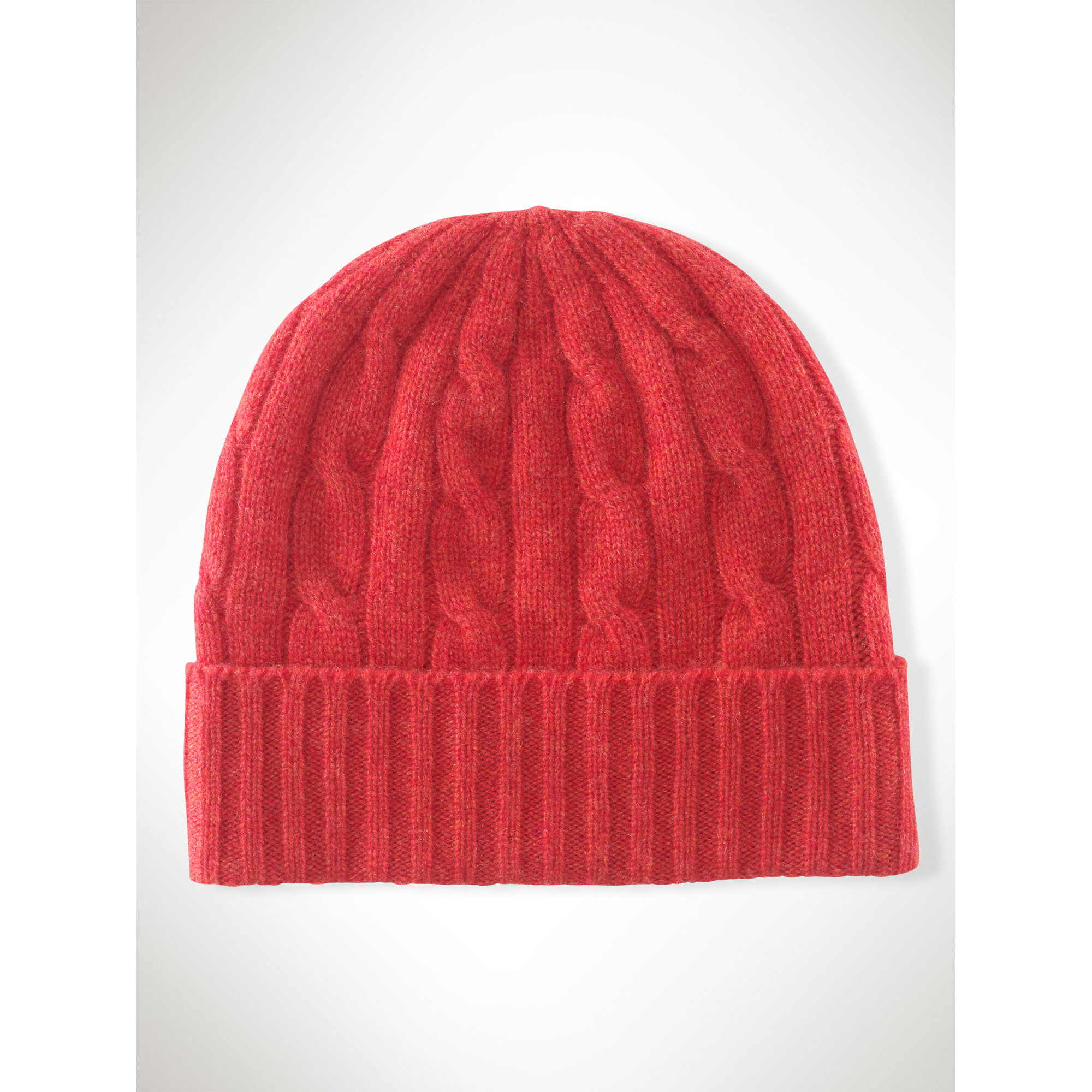 Lyst - Polo Ralph Lauren Cable-knit Cashmere Hat in Red cc0d388c8ec