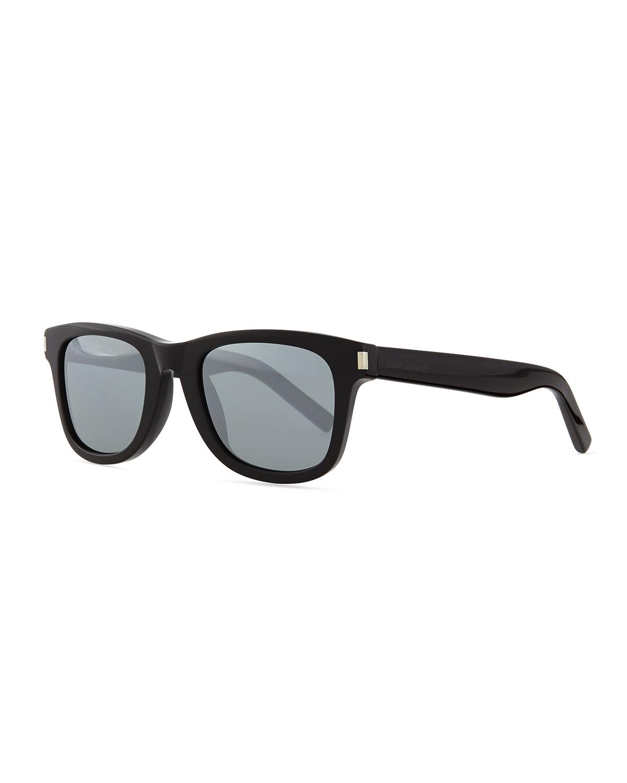 Lyst Saint Laurent Trapezoid Sunglasses In Black For Men