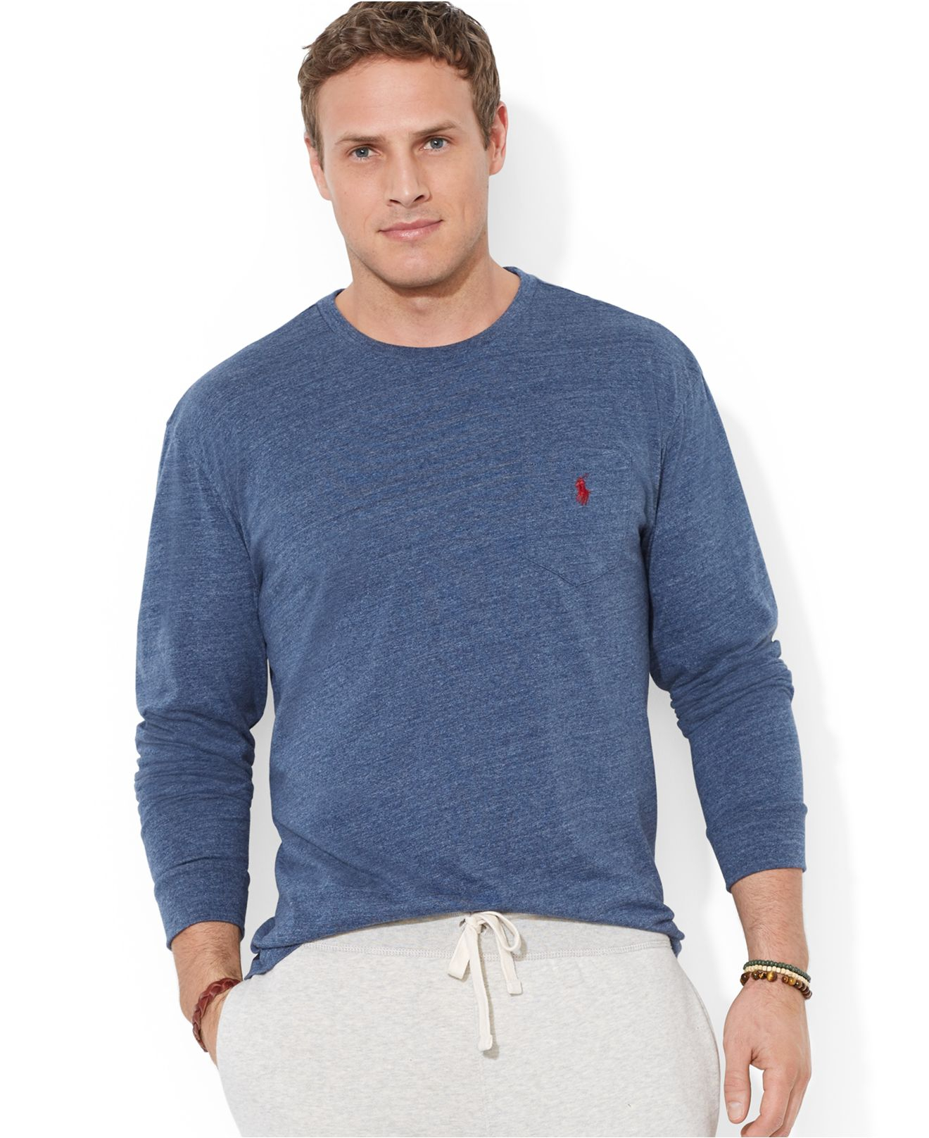 Polo Ralph Lauren Big And Tall Crew Neck Pocket T Shirt In