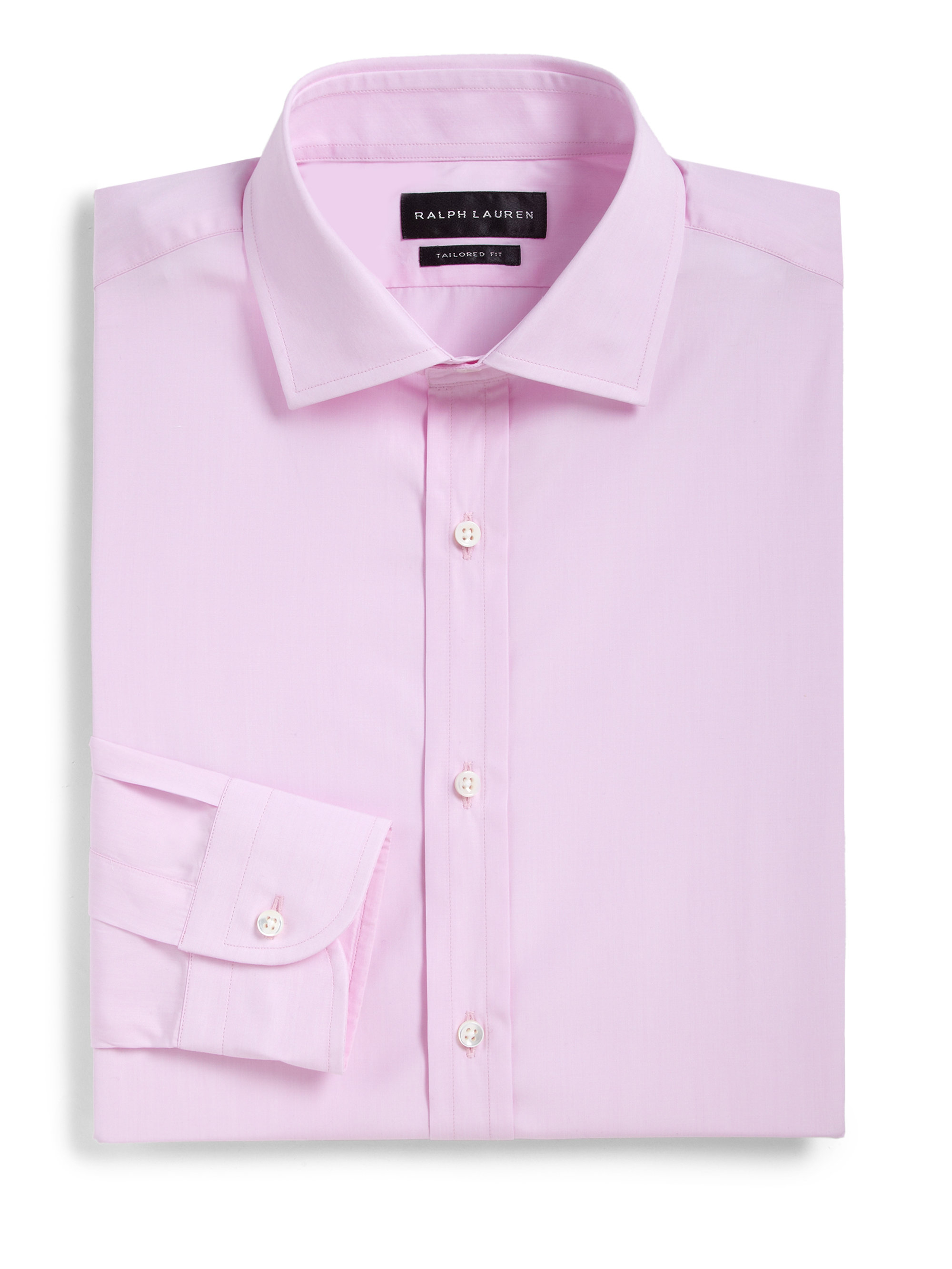Ralph Lauren Black Label Tailored Fit Cotton Dress Shirt