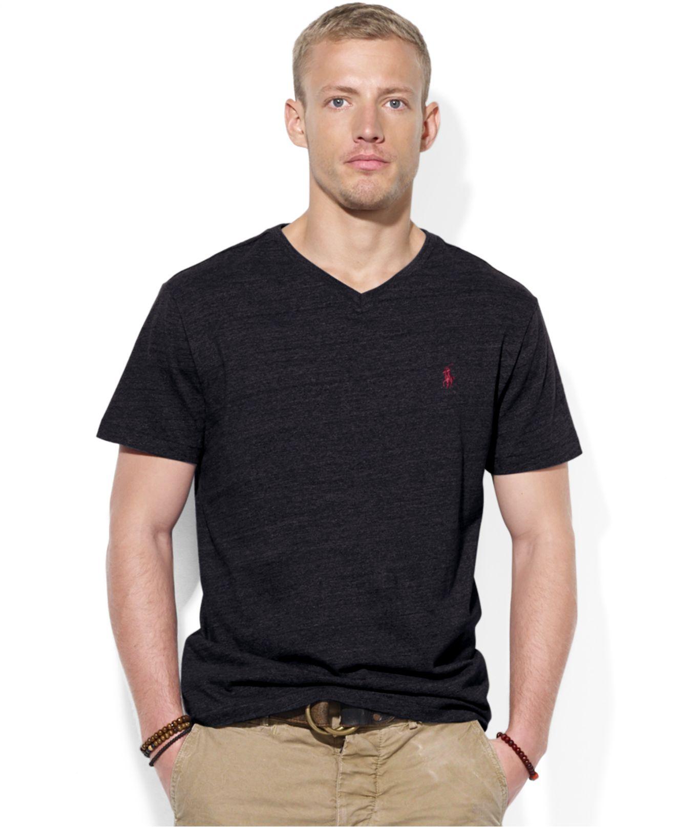 2f6ecb7df48c Lyst - Polo Ralph Lauren Jersey V-Neck T-Shirt in Black for Men