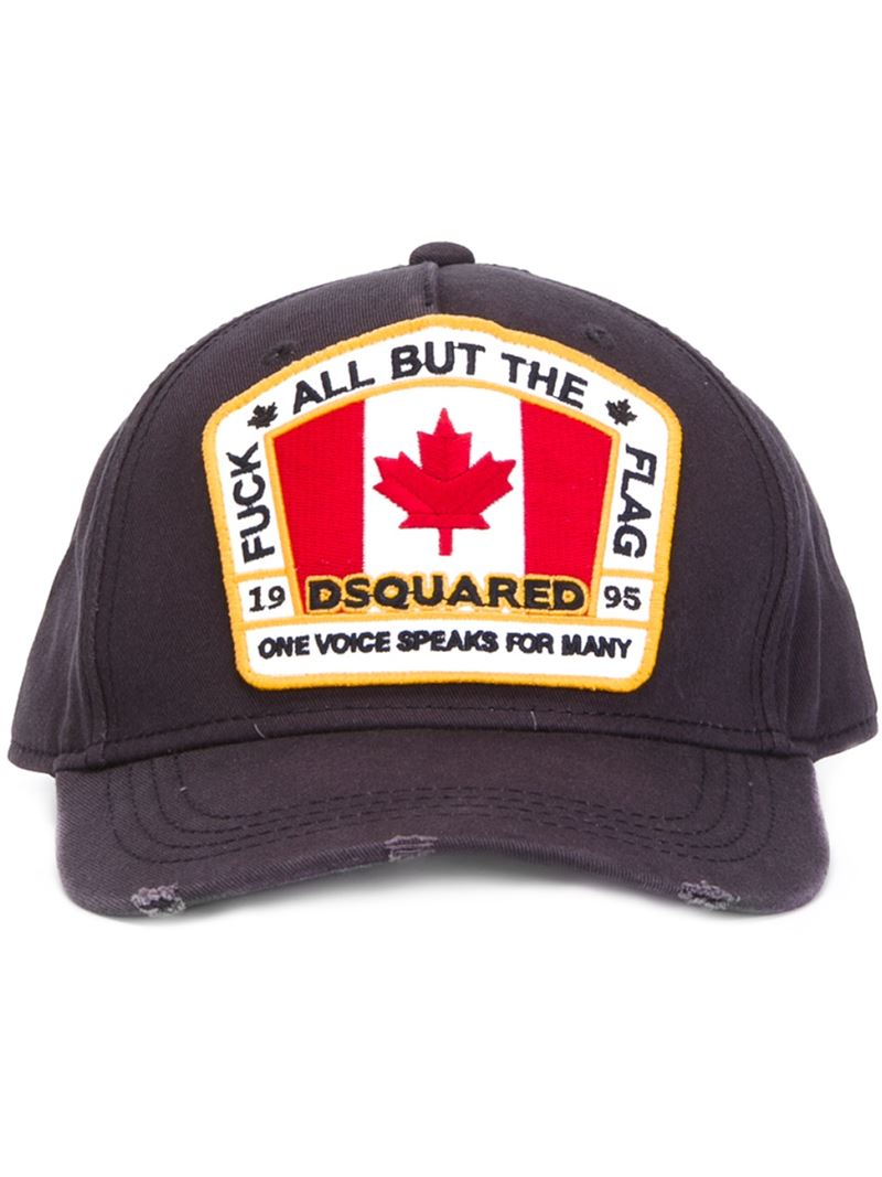 badge embroidered baseball cap - Blue Dsquared2 xXQZdri7Wo