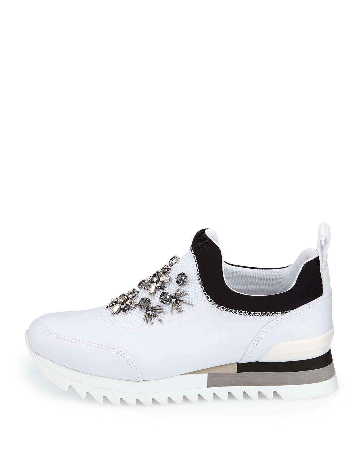 0782016f1 Lyst - Tory Burch Rosas Embellished Runner Sneaker in White