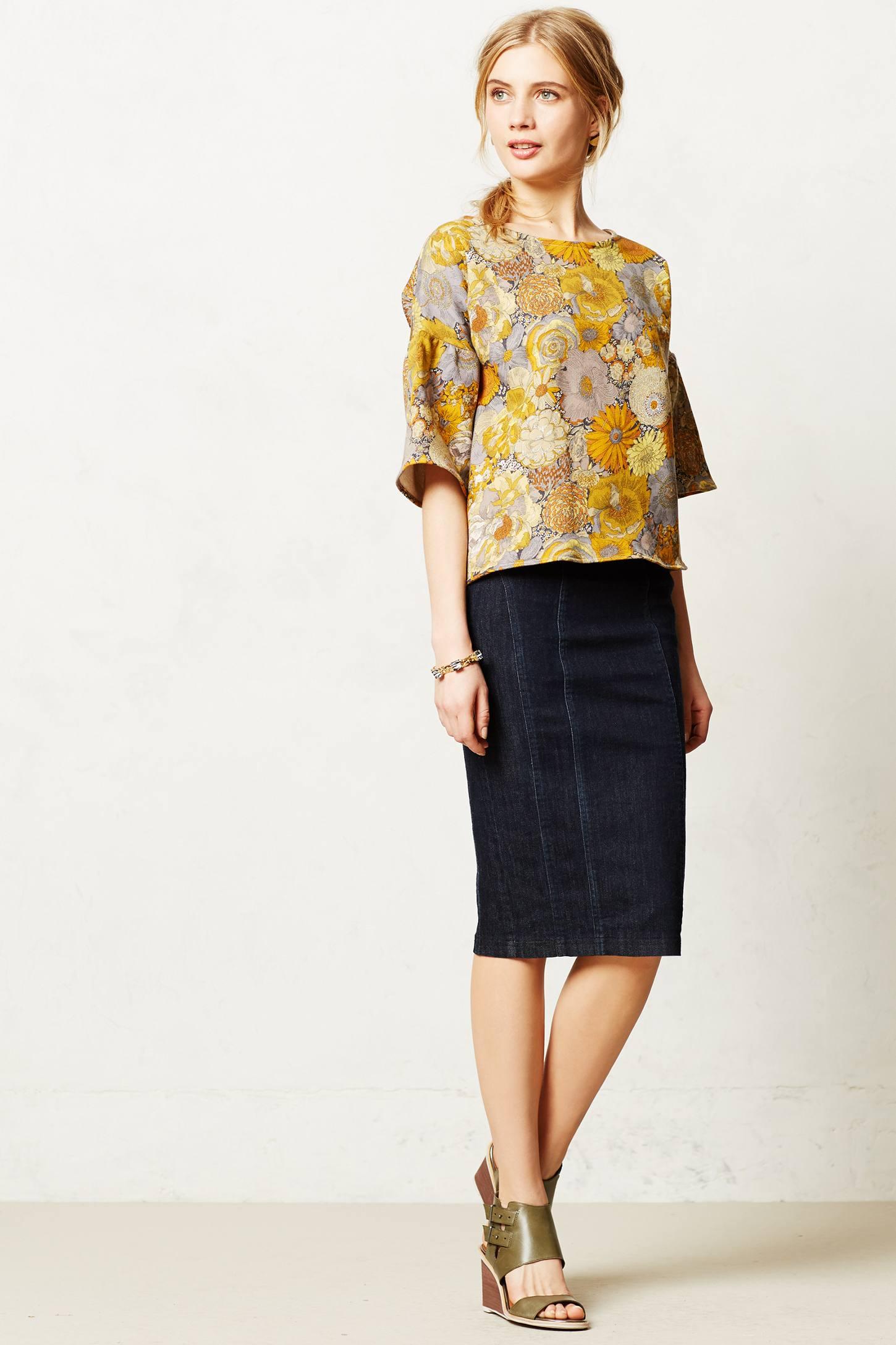 01fb403fd8 Nanette lepore Denim Pencil Skirt in Blue