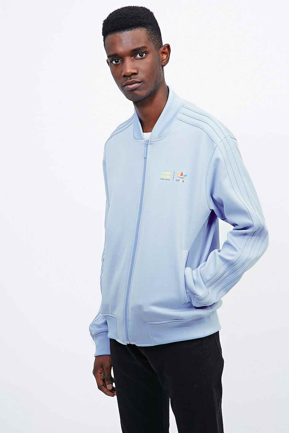 54fea4656 adidas X Pharrell Supercolor Track Jacket In Clear Sky in Blue for ...