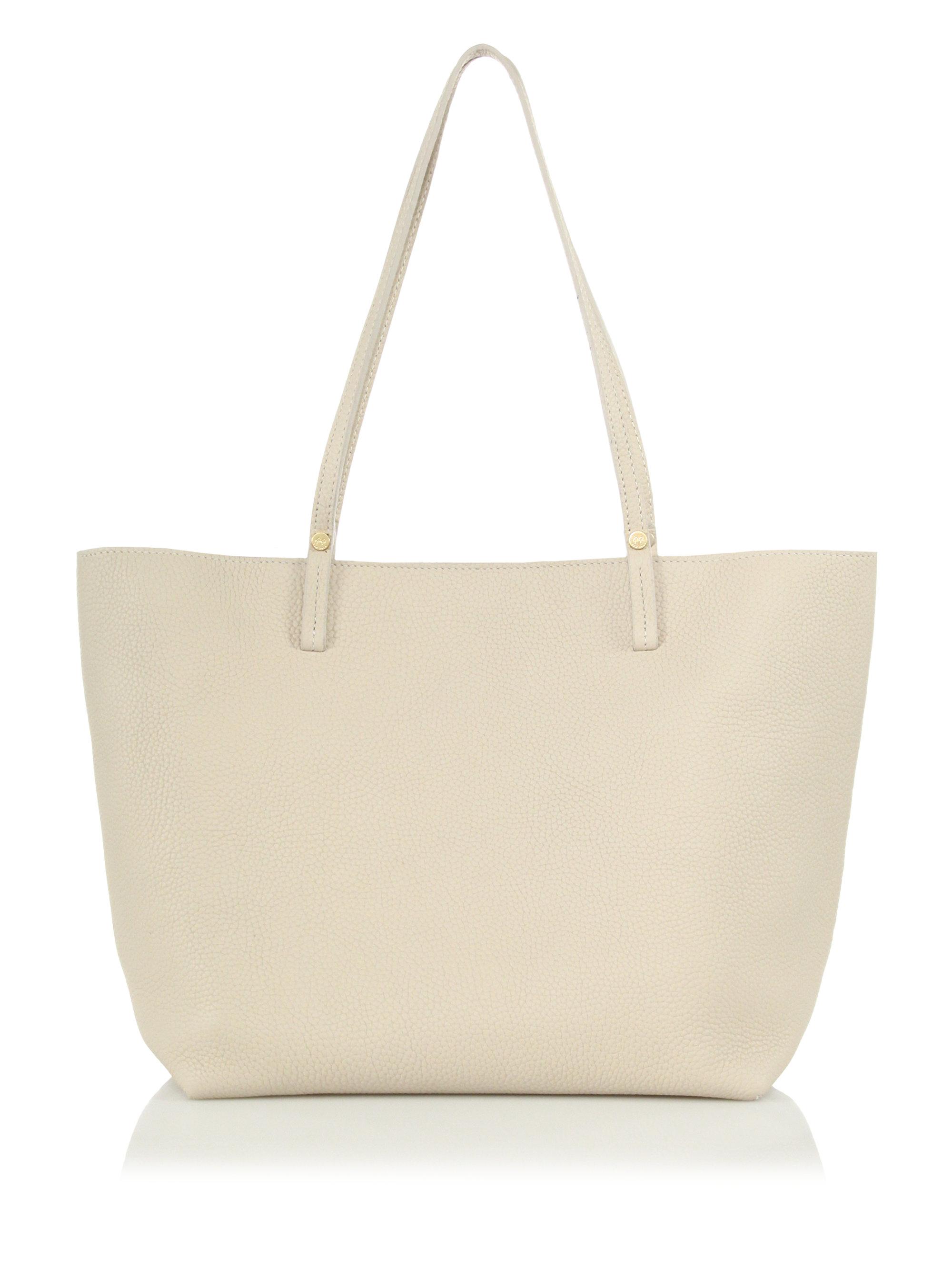 Louis Vuitton Laukku Tori : Gigi new york tori pebbled leather tote in white lyst
