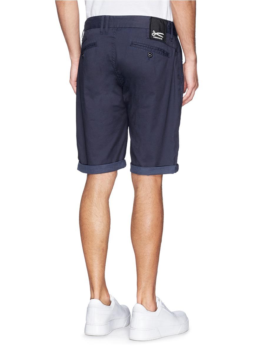 Lyst Denham Patrol Chino Shorts In Blue For Men