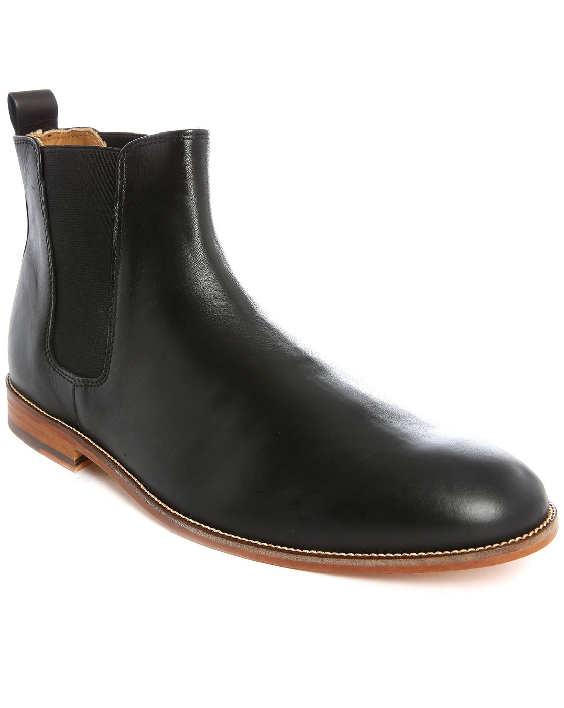 bobbies l 39 horloger black leather chelsea boots in black. Black Bedroom Furniture Sets. Home Design Ideas