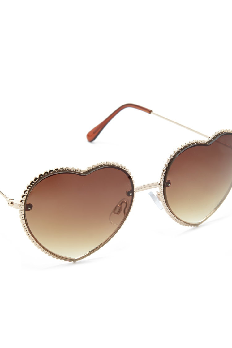 Lyst - Forever 21 Heart-shaped Sunglasses in Metallic - photo#47