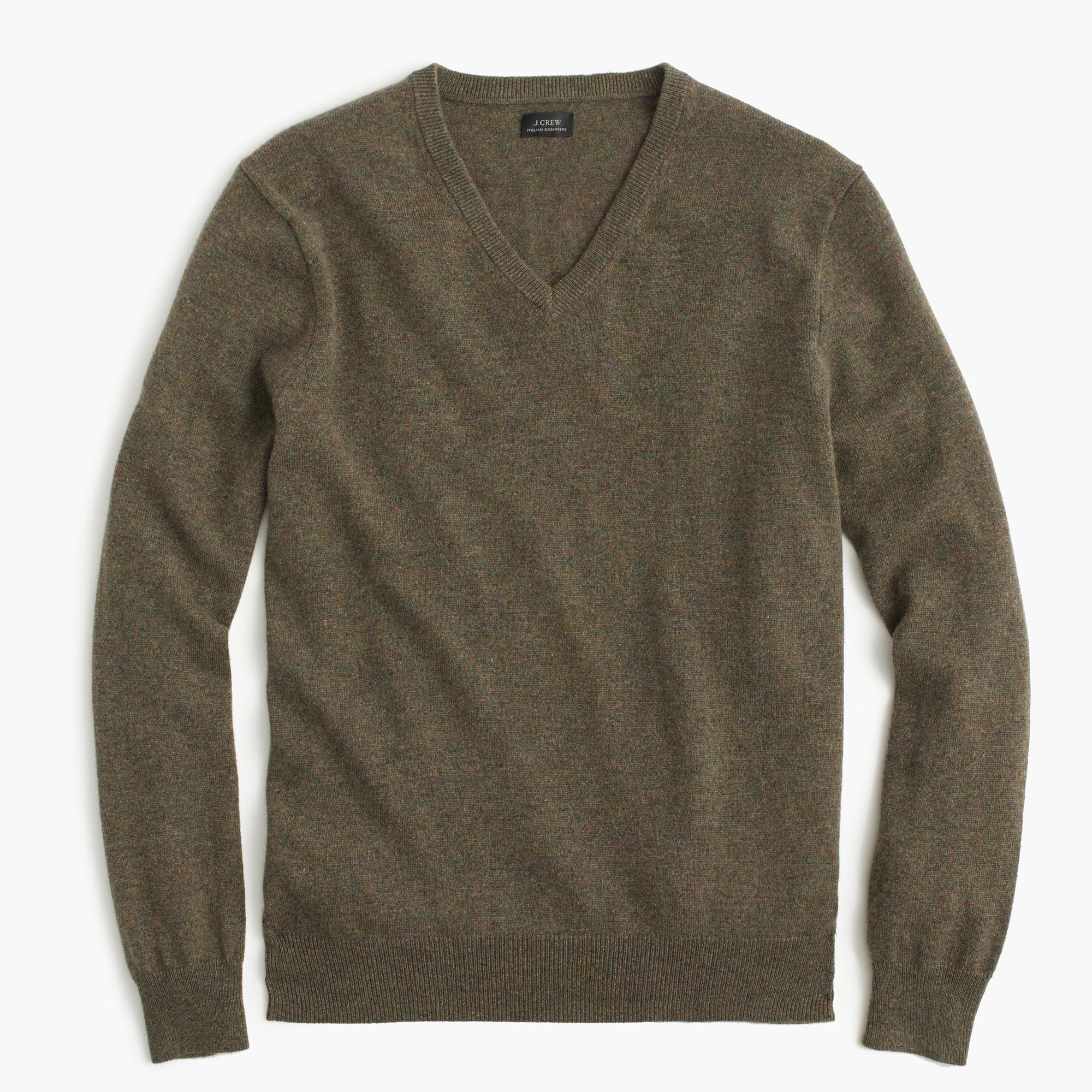 J.crew Italian Cashmere V-neck Sweater in Green for Men ...