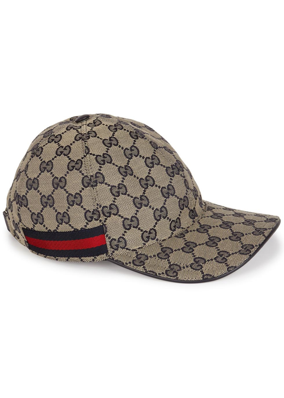 1887a36a1f0 Gucci Gg Sand Monogrammed Canvas Cap in Blue - Lyst
