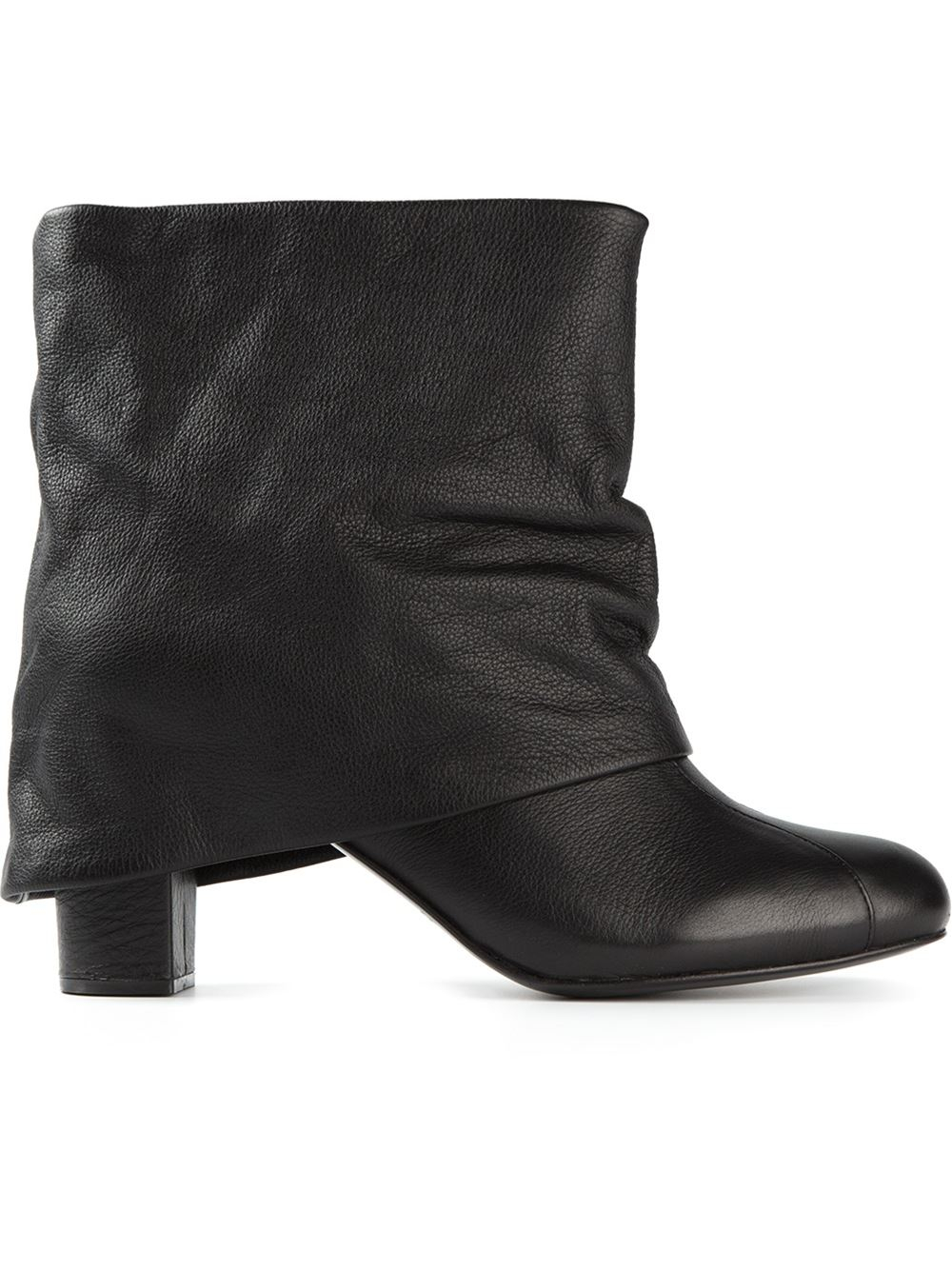 c7b82d2231d1 Lyst - See By Chloé Slouchy Cuffed Boots in Black