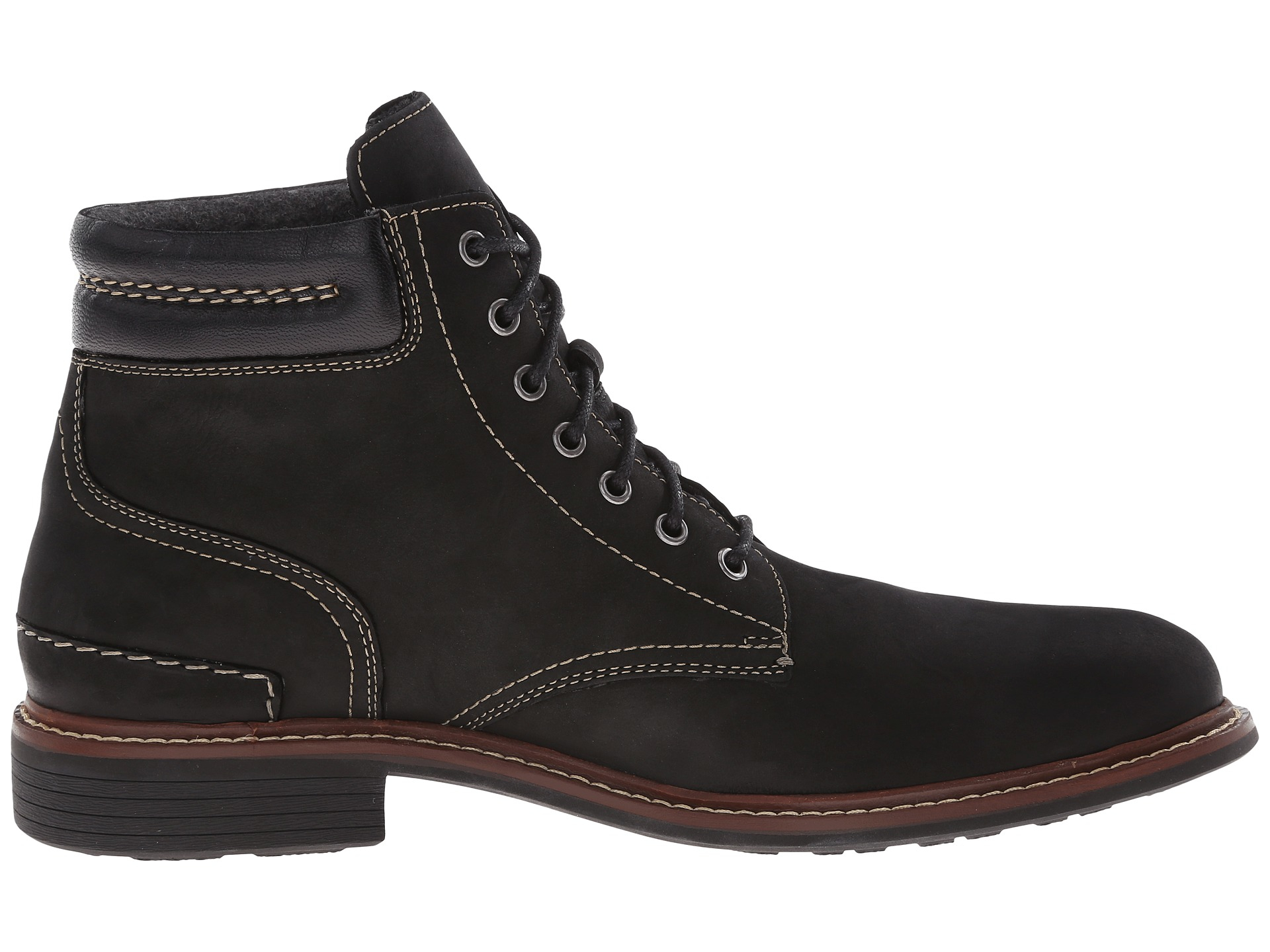 cole haan bryce lace boot in black for lyst