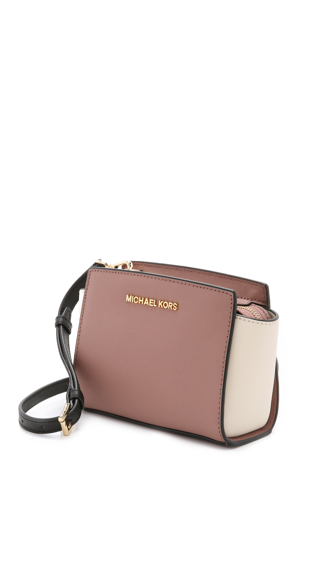 7c88ddac0b86 ... real lyst michael michael kors selma mini color blocked cross body bag  f3355 63bd9