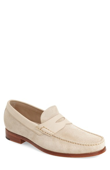 3183ade3a90 Lyst - Johnston   Murphy  danbury  Penny Loafer in Natural for Men
