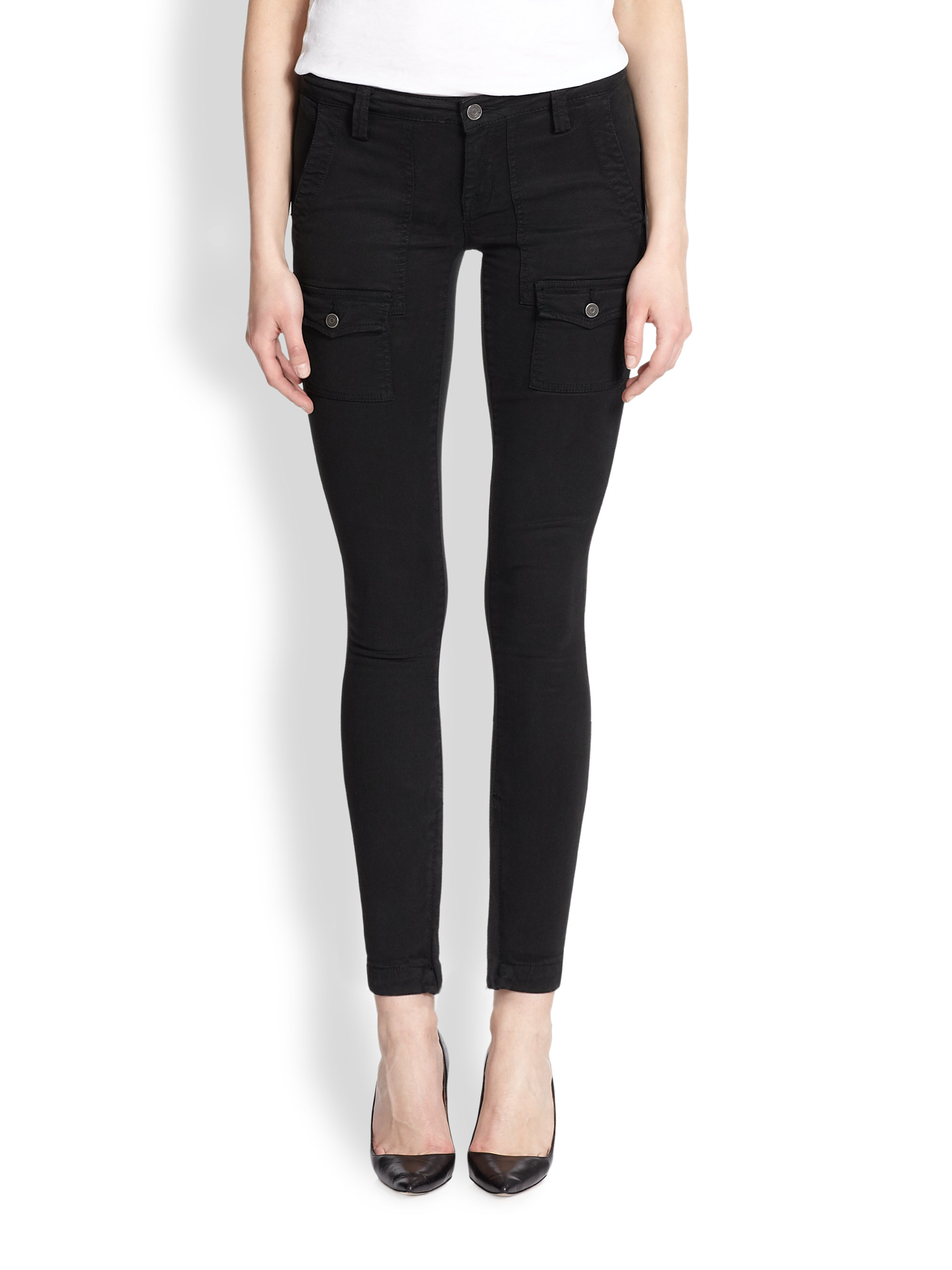 Lyst Joie So Real Skinny Cargo Pants In Black