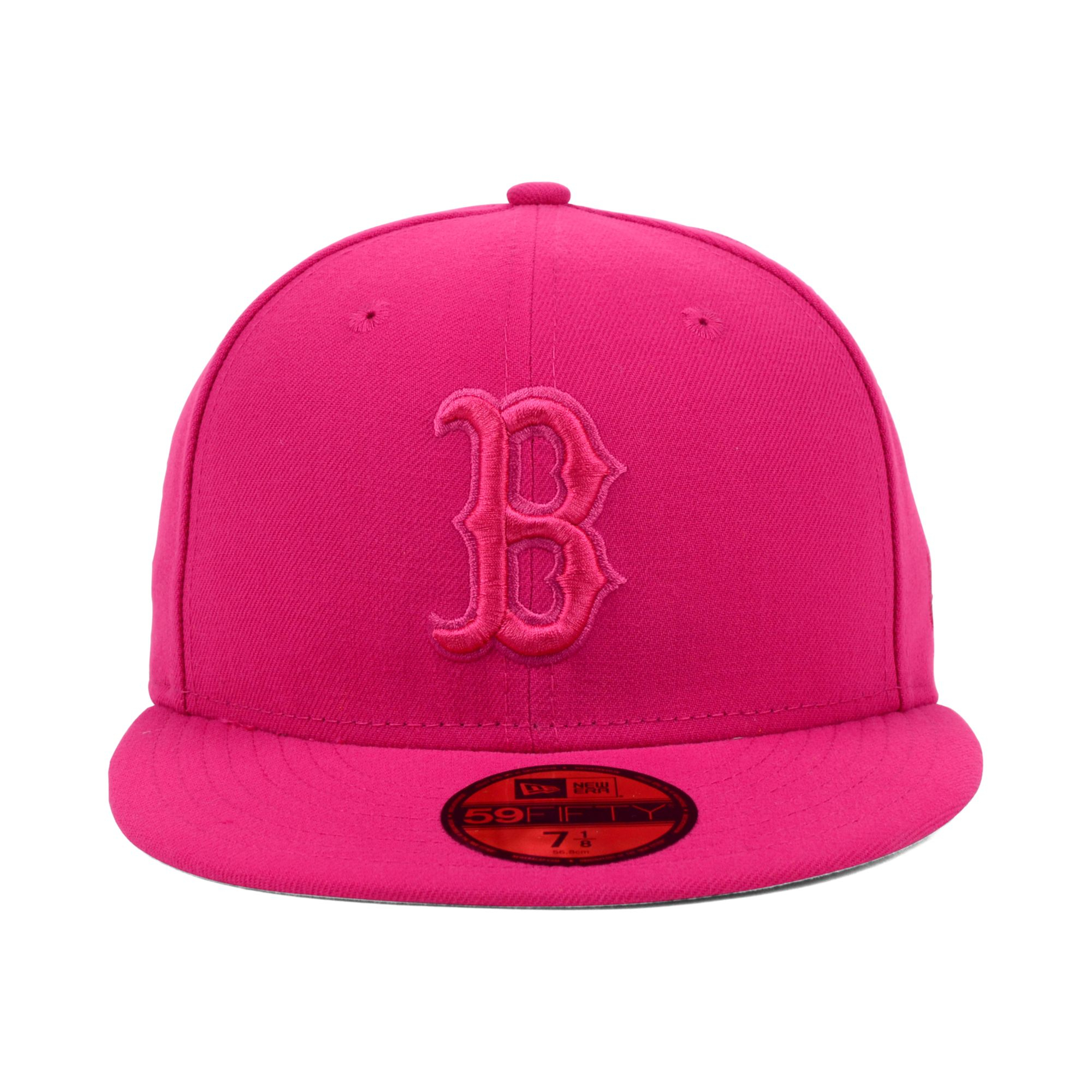 254a3714016 ... promo code for lyst ktz boston red sox pop tonal 59fifty cap in pink  8a1e3 fd5d6