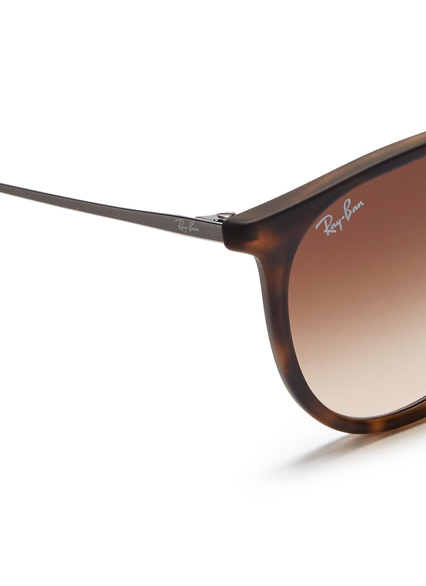 Ray-ban Erika Matte Acetate Frame Wire Temple Sunglasses ...