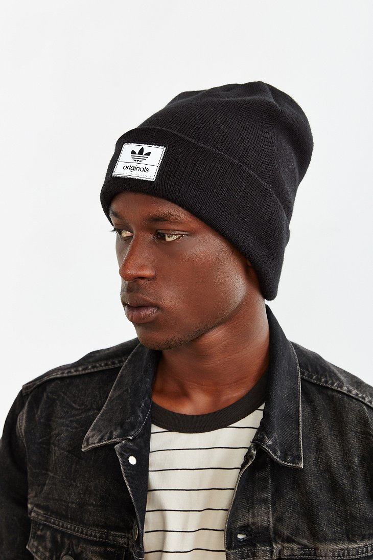 42e7fd4d45934 adidas Originals Victors Knit Beanie in Black for Men - Lyst