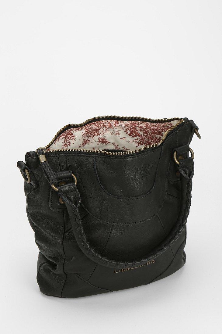liebeskind liebeskind gina e leather duffle bag in black. Black Bedroom Furniture Sets. Home Design Ideas