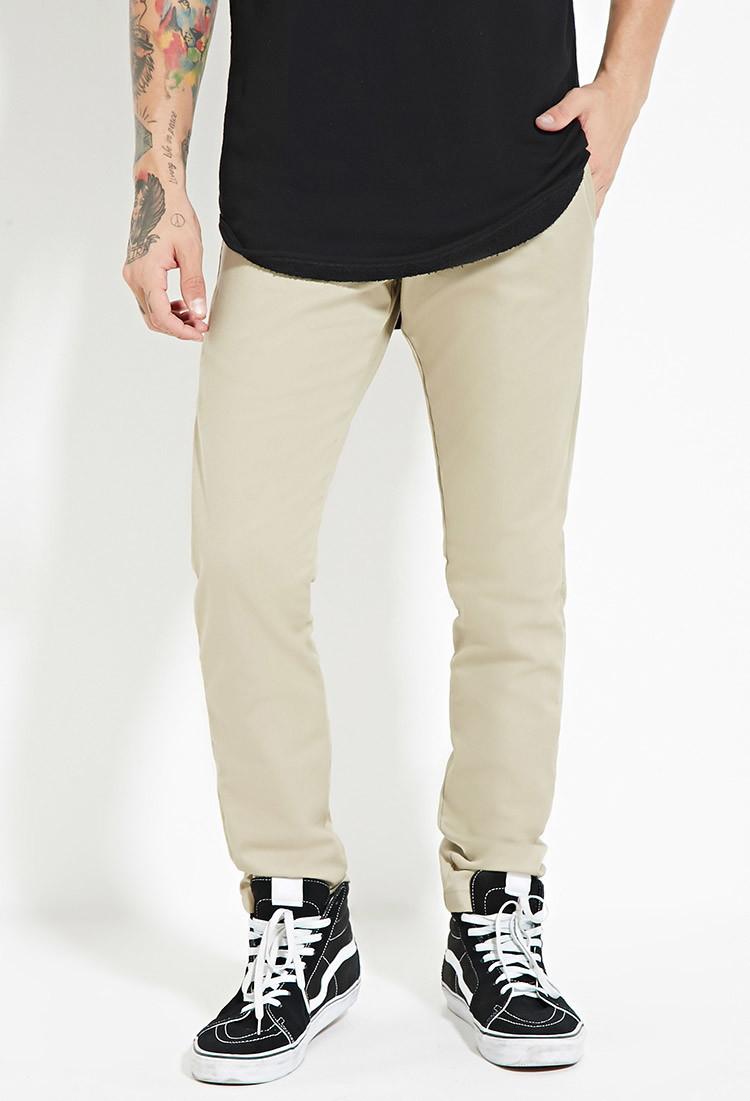 Lyst - Forever 21 Dickies Skinny Straight Work Pants in Natural for Men 389e7c8e1