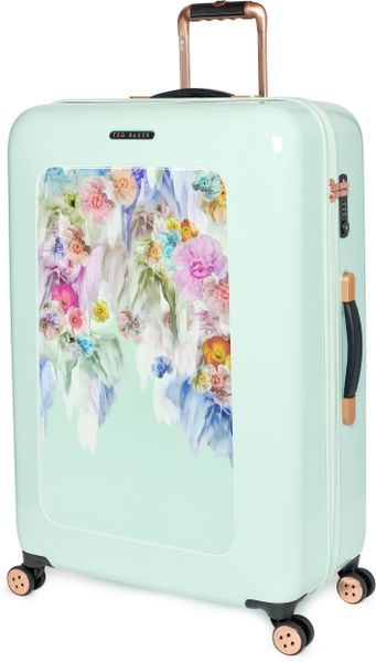 Ted Baker Large Sugar Sweet Floral Suitcase In Floral Pale Green Lyst