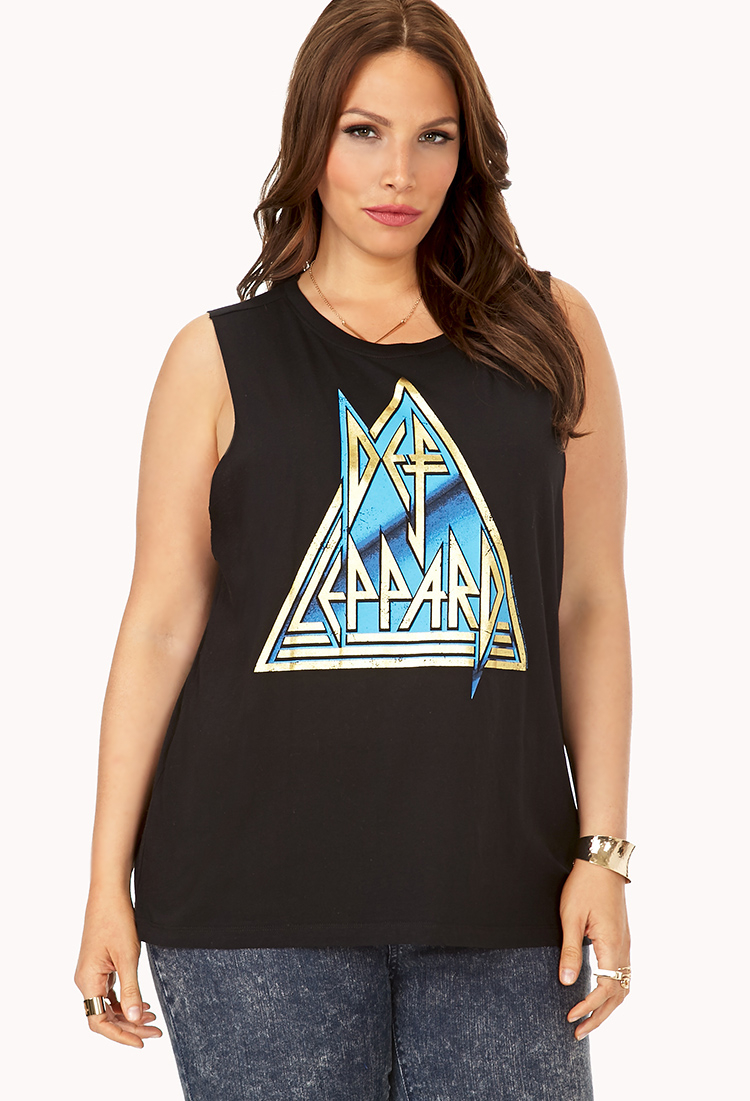 ee5a00bb Forever 21 Underground Def Leppard Muscle Tee in Black - Lyst
