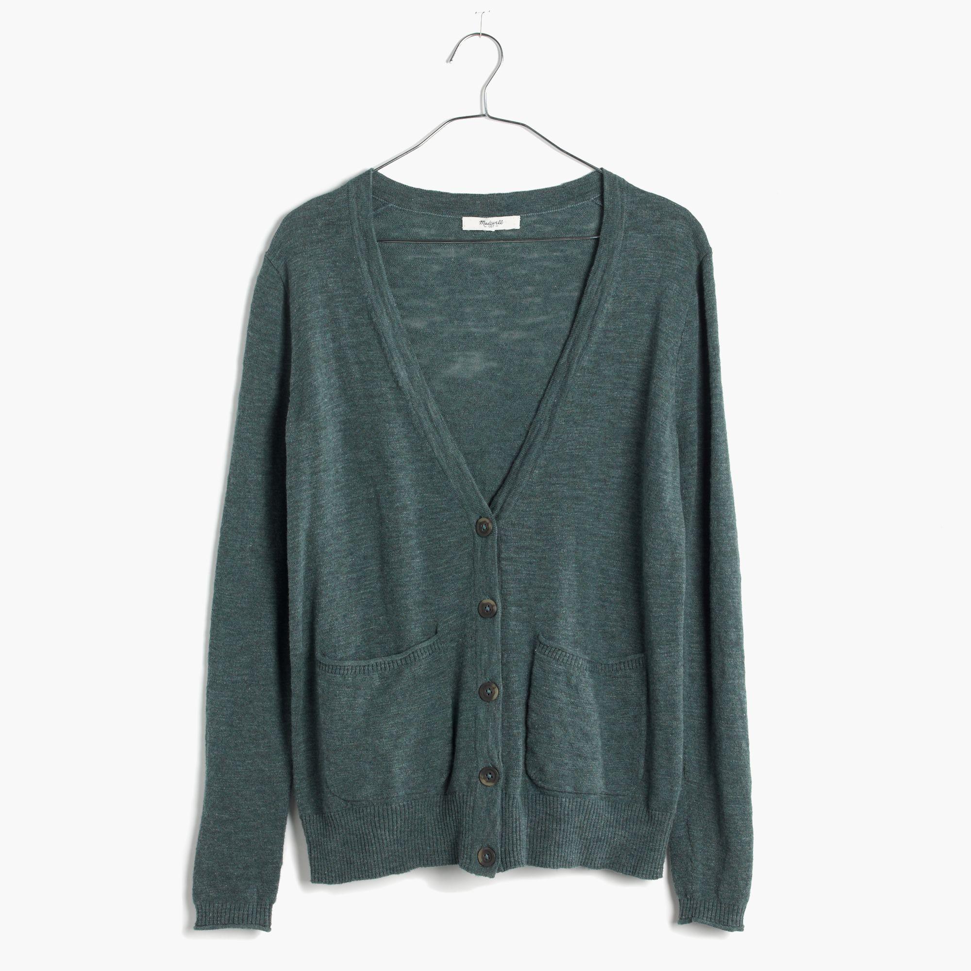 Madewell Graduate Cardigan Sweater in Green | Lyst