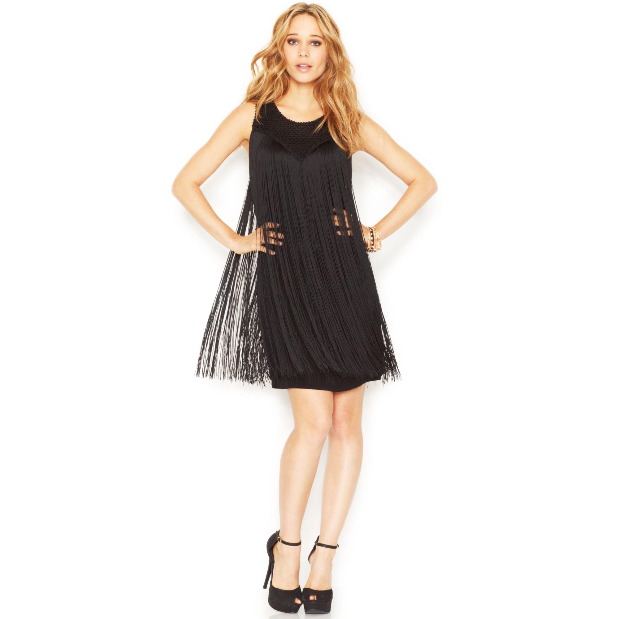 Fringe Shift Dress