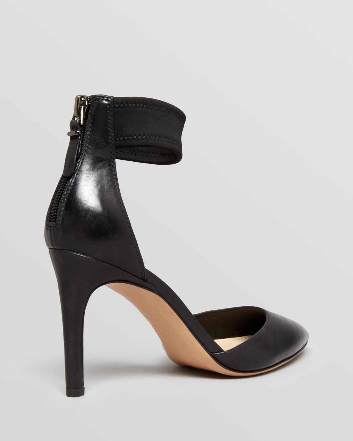 Black High Heel Shoes With Strap
