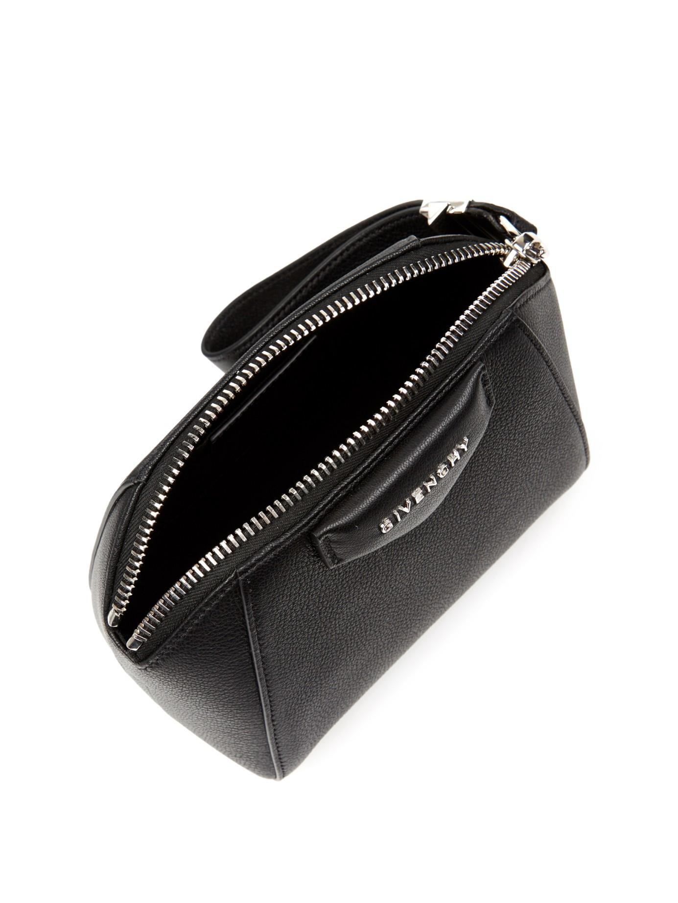 1e47a39e5c1 Givenchy Antigona Beauty Sugar-leather Clutch in Black - Lyst