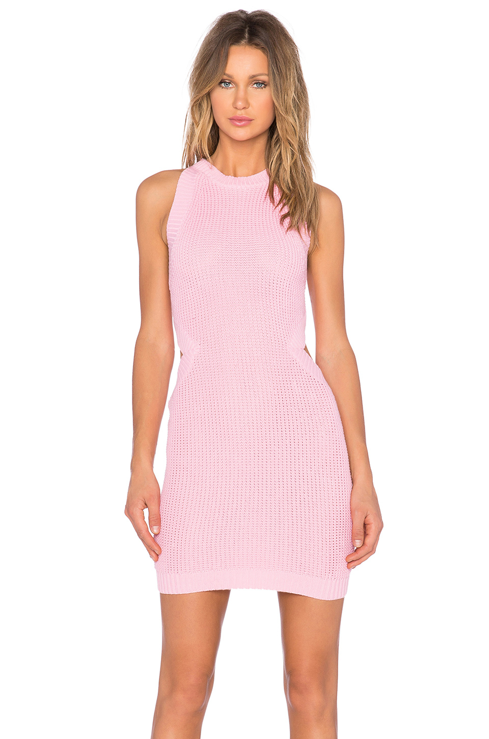 Endless rose Cut Out Knit Dress in Pink | Lyst