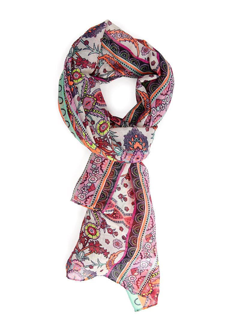 forever 21 enchanted floral scarf lyst