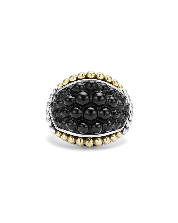 lagos black caviar onyx dome ring in black lyst