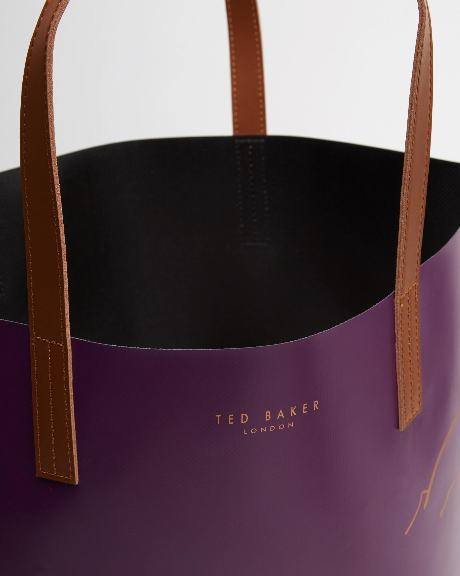 5a4f33541f32 Ted Baker Teddy Foil Detail Shopper Bag in Purple - Lyst