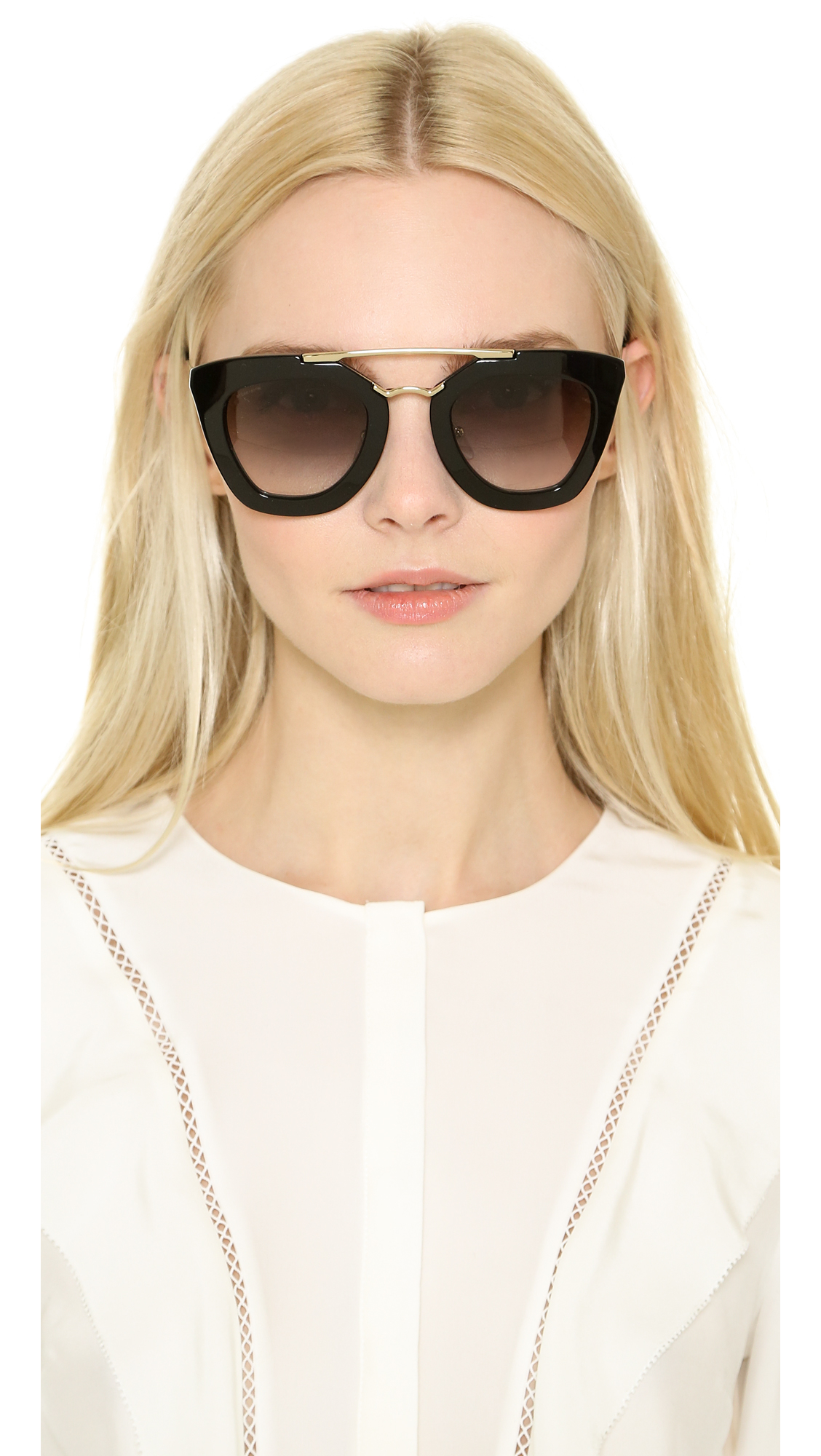 59e681609e ... sweden lyst prada thick frame sunglasses in black 70115 2dbf8 ...