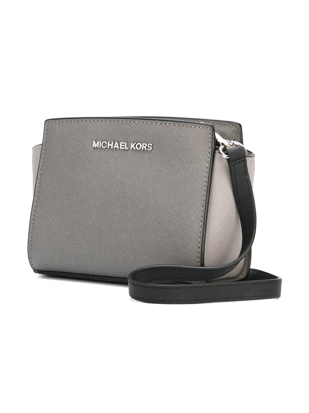 8e77a6d72068 Lyst - MICHAEL Michael Kors  selma  Crossbody Bag in Gray