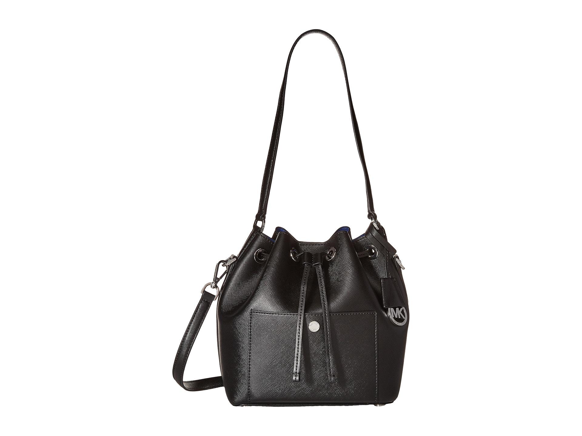 56cc2622afde9e MICHAEL Michael Kors Greenwich Medium Bucket Bag in Black - Lyst