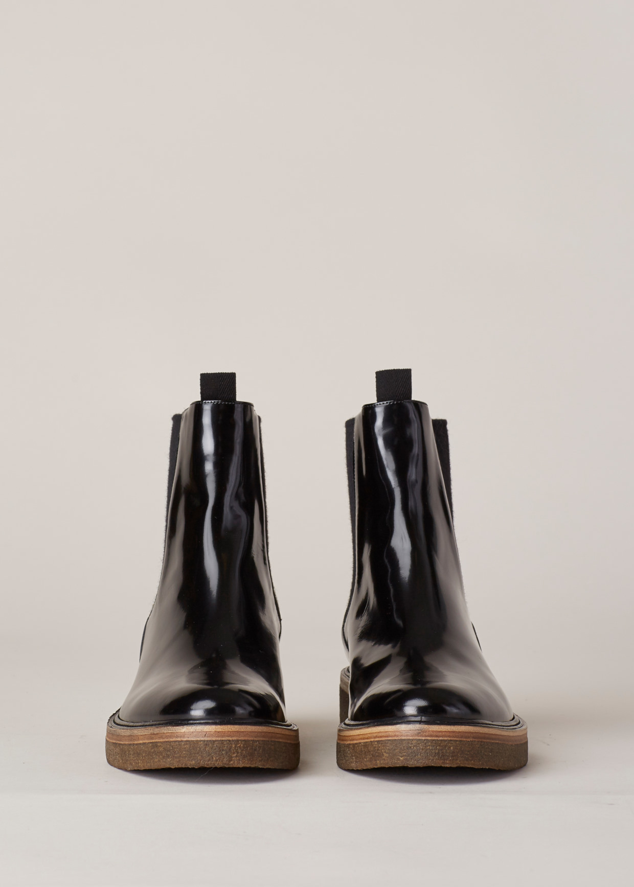 Dries van noten Gloss Black Pull On Chelsea Boot in Black for Men ...