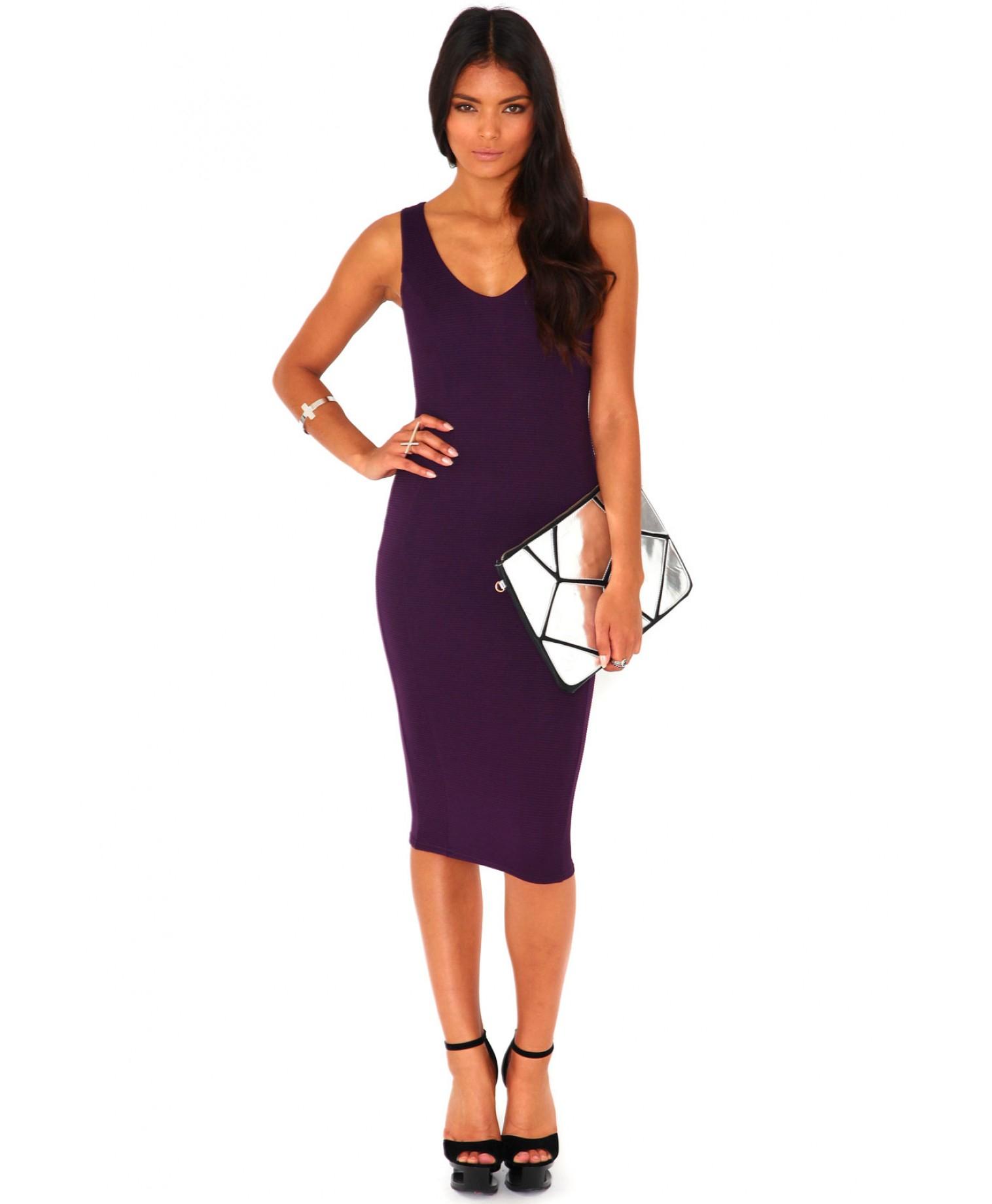 Quotes plum purple bodycon dress david jones